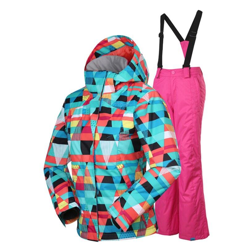 Prix pour Gsou Snow-30 Degrés Enfants Sportwear Chaud Manteau Sportif Ski Costume Enfants Vêtements Ensembles Filles Coupe-Vent Imperméable Vestes Pour 6-14 T