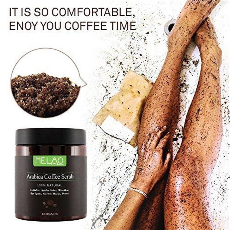 250ml Arabica Coffee Body Scrub Skin Care Body Scrub Exfoliating Whitening Moisture Reducing Cellulite Cream Facial Skink Care