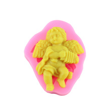 New Arrival Cute Angel Boy With Electronic Organ Shape 3D Silicone Cake Mold Fondant Cake Tools For Cupcake