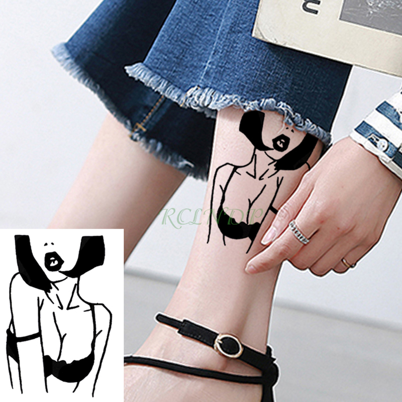 Waterproof Temporary Tattoo Beauty Sexy Girl Amy Winehouse Tatto Stickers Flash Tatoo Fake Tattoos Shoulder Foot For Lady Women