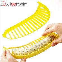 BalleenShiny kitchen gadgets Banana Slicer Cutter fruit vegetable tools Kitchen accessories Cooking Tools salad essential
