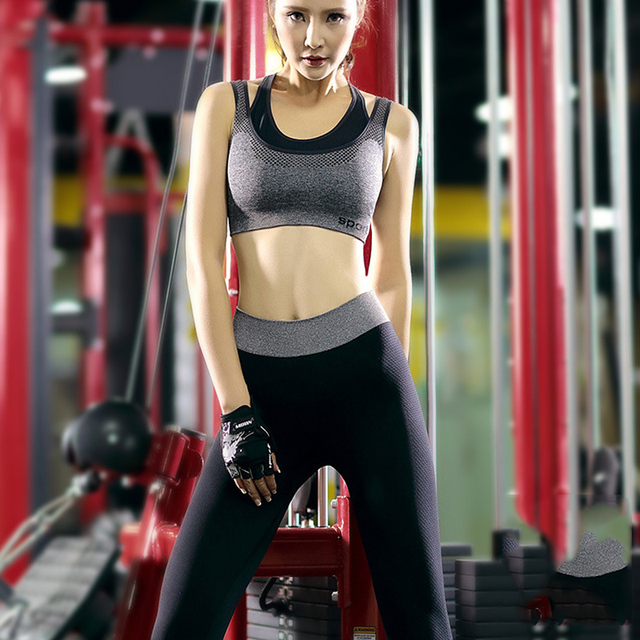 9217c077245f Women Yoga Fitness Suit Sport Sets Female Summer Sportswear Gym Running  Workout Clothes Girls Tops Bra+Leggings Pants YT10