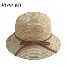 HEAD BEE font b 2018 b font Brand Sun Hat Kid Vintage Summer Hat for