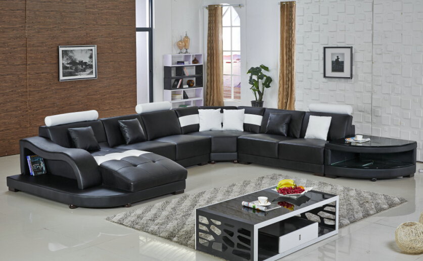 sofa set living room furniture modern sectional le chaise lounge indoor uk