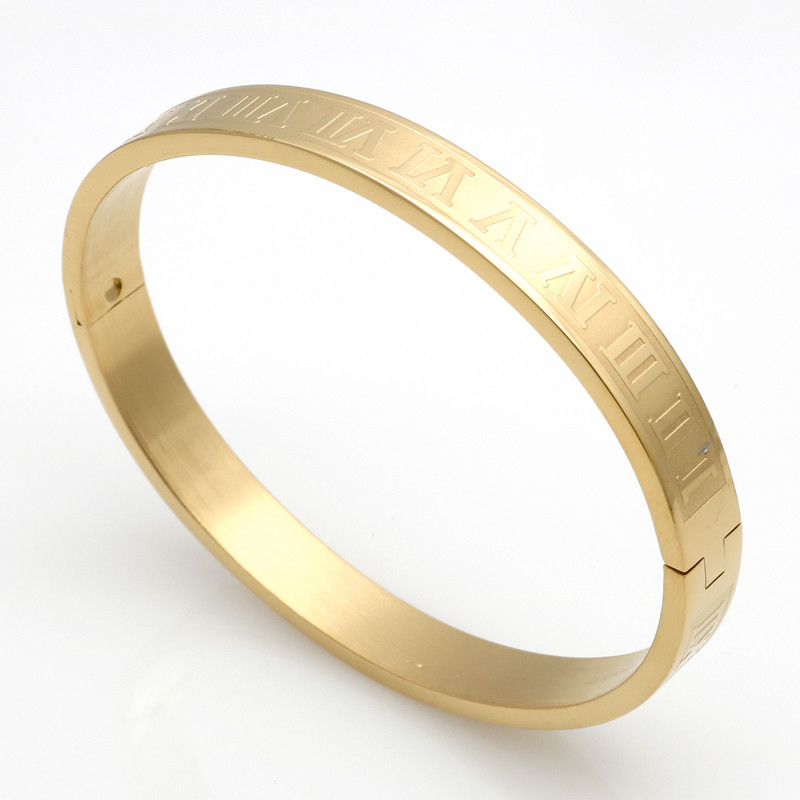Men And Women Stainless Steel Gold Plating Couples