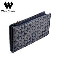 Westcreek Brand Men Women S Handmade Knitting Real Leather Intrecciato Sheep Skin Phone Wallet Credit Card