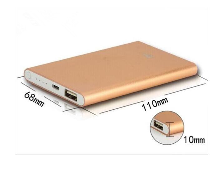 Black/Silver 8000mAh Power Bank Mini Supply External Battery Charger For Mobile Phones please note it's not 100000mah