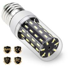 LED E14 Lamp 220V bombilla led E27 Corn Bulb 38 55 78 88 140leds Energy saving Light Bulb 4014SMD Lighting Replace halogen Lamps e27 7w 4014smd led bulb lamp light energy saving efficient