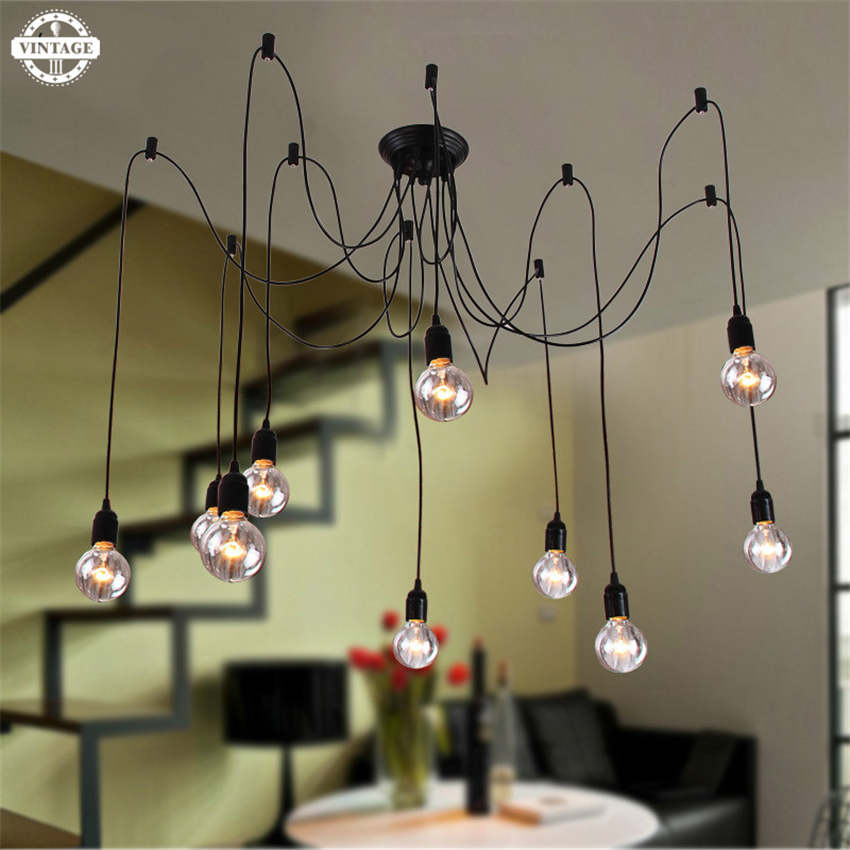 New Creative Industrial Vintage Edison Pendant Light Lamp  For Living Room/ Dining Room /Shop/ Restaurant Coffee  Bar AC 90-260V edison vintage style industrial elegant black white light pendant lamp for cafe bar club coffee shop hall aisle