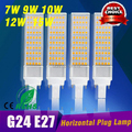 G24 LED plc light  SMD 5050 led lamp 180 degeree AC85-265V 7W 9W 10W 12W 15W led lighting E27 G24 led bulb