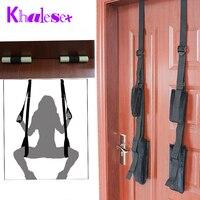 Khalesex Drzwi Huśtawka Huśtawka Krzesła Meble Miłość Sex Dla Dorosłych Sex Zabawki dla Kobiety Fetysz Powściągliwość Bondage Sex Produkty dla Par