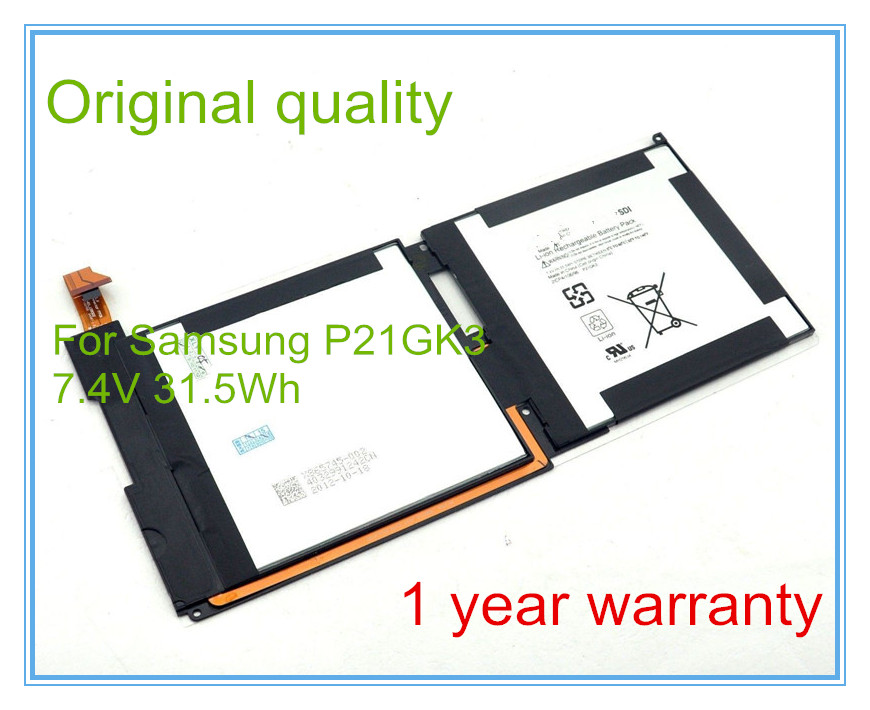 Original Laptop Battery P21GK3 For Surface RT 1516 21CP4/106/96 P21GK3 7.4V 31.5WH