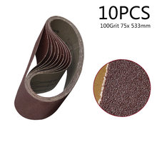 Honest Tasp 5pcs 75x533mm Aluminium Oxide Sanding Belt 3x21 Belt Sander Sandpaper Woodworking Power Tools Accessories Tools