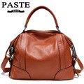 33015957766 - Bolso de piel auténtica, bolsos de mano para mujer, marcas famosas, bolsos de hombro, bolso de mujer con monograma, Bolsa femenina