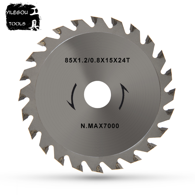 85mm Circular Saw Blades 44 Teeth HSS Saw Blades 24 Teeth TCT Wood Saw Blades 85*15mm Daimond Blades Mini Circular Saw Bore 15mm 7pcs set xxl speed saw blades cutting blades for mini circular saw diameter 85mm multi saw blade power tool accessory blades