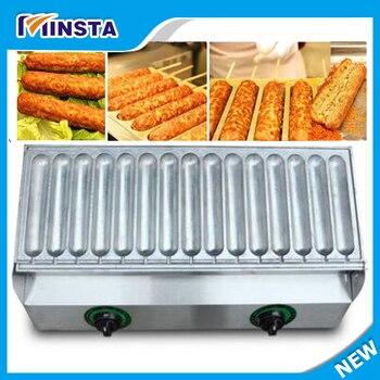 15 трубчатая машина для выпечки сосисок, машина для выпечки хот-догов, двойная температура. Управляемая нагревательная машина для хот-догов