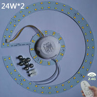 2014new product 24W 2.4g rf touch remote control led ceiling panel 5630smd led lamp non polar dimming color temperature