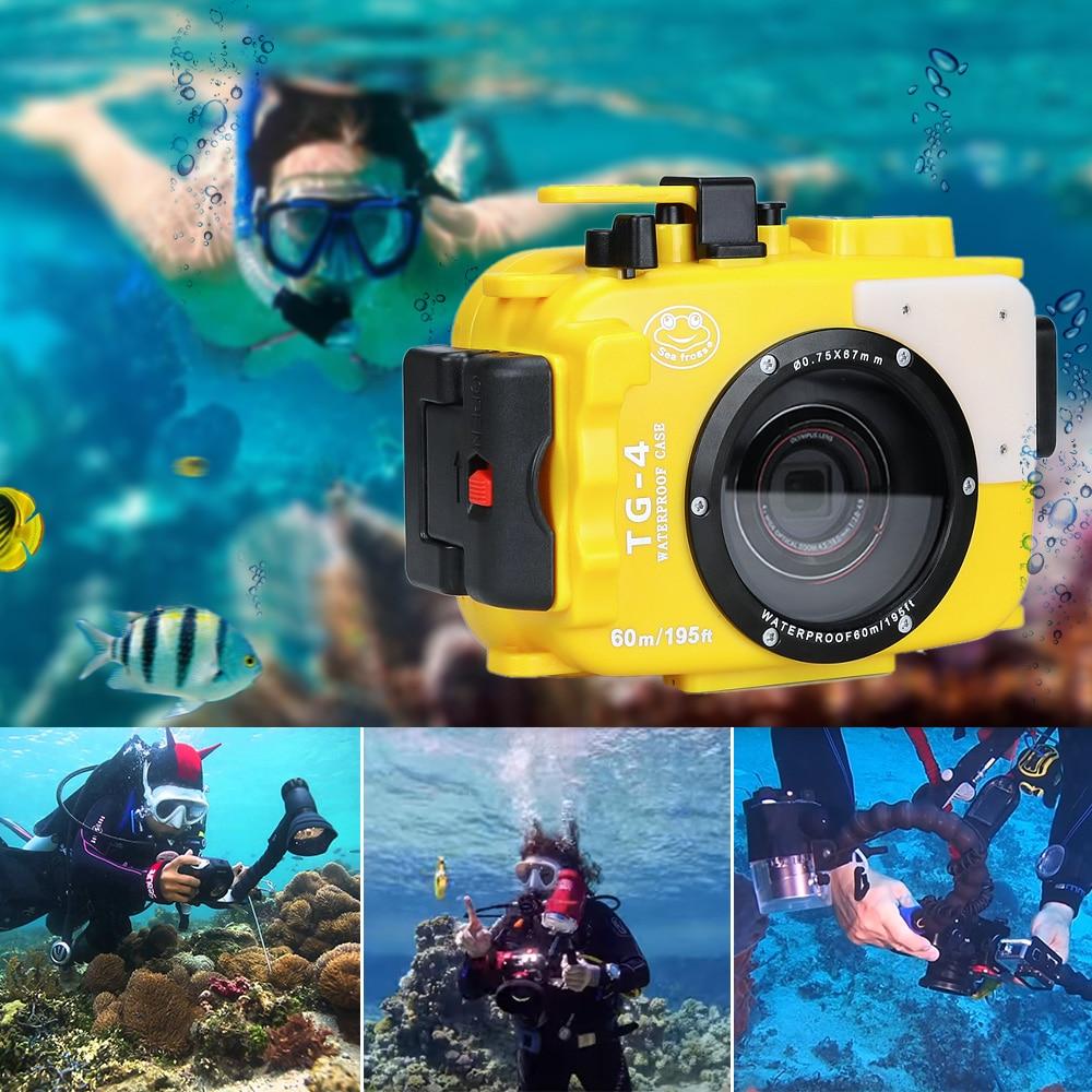 For Olympus TG4 Camera Underwater Housing Case Waterproof Diving Bag Shooting PC Equipment water resistance box (1)