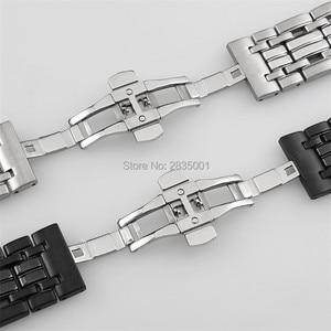 Image 3 - Браслет из нержавеющей стали 316L с вогнутым ртом, 22*13 мм 20*11 мм, серебристый, черный браслет с застежкой бабочкой для часов GC