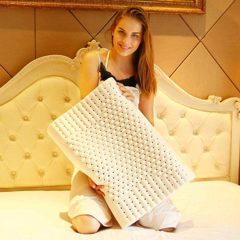 Natural Laxtex Soft Pillow with Massage Granule Remedial Neck Protect Vertebrae Health Care Orthopedic Pillow 60x40x10-12cmNatural Laxtex Soft Pillow with Massage Granule Remedial Neck Protect Vertebrae Health Care Orthopedic Pillow 60x40x10-12cm
