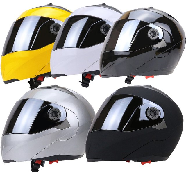 Newest Full Face Motorcycle Helmet Dual Visor Street Bike with Silvering Visor with Hot Pressure Sponge Liner with ABS Material