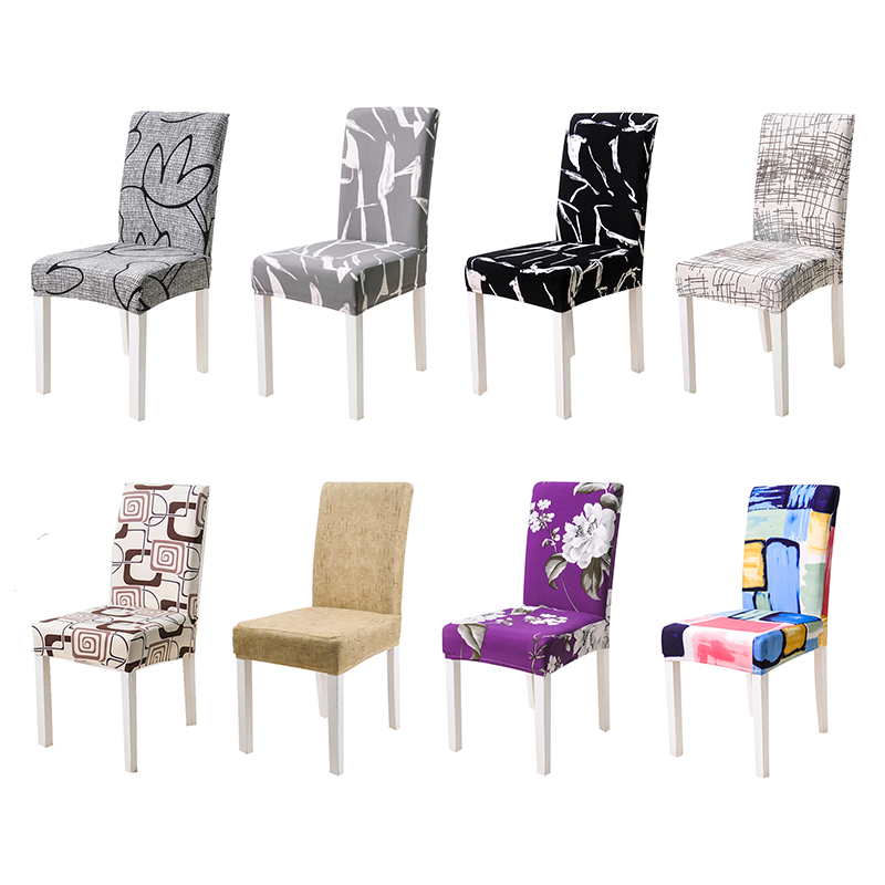 US $2.95 53% OFF|Chair Covers Spandex Seat Cover Kitchen Chair Covers  Dining Seat Covers For Chairs In the Kitchen Stretch Elastic Slipcovers-in  Chair ...