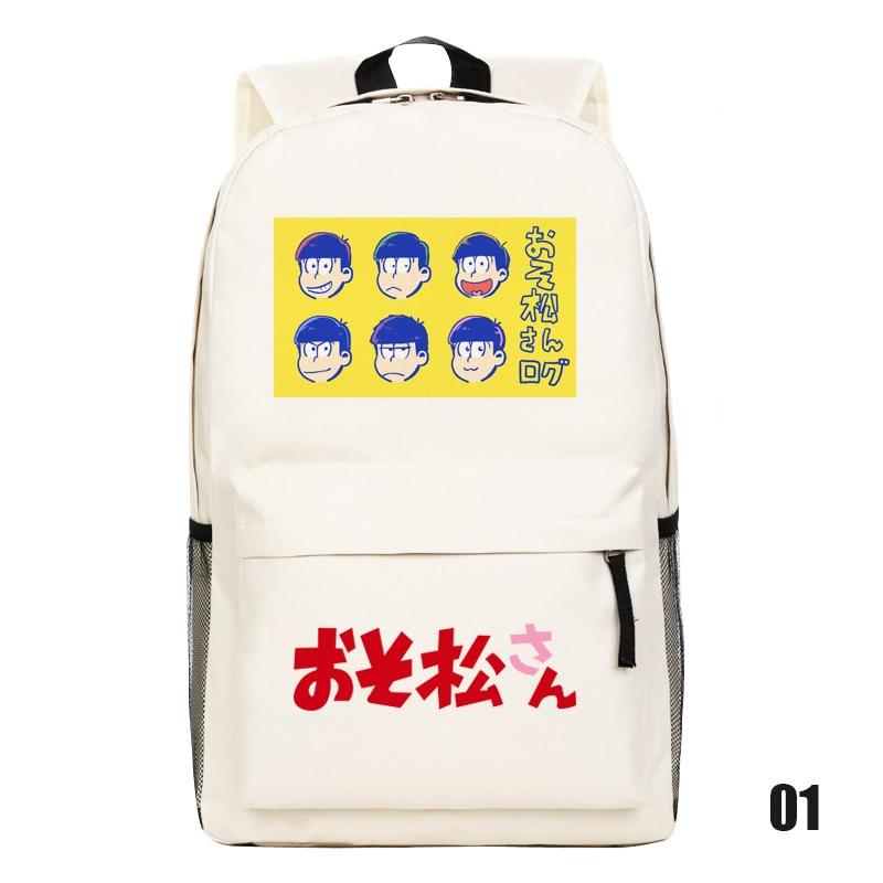 Osomatsu-san Matsuno Ichimatsu Students Shoulder Bag Japanese Anime Cartoon Cosplay Backpack Schoolbag Free Shipping