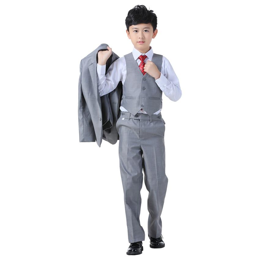 ActhInK New Boys Formal Blazer Wedding Suit 4PCS Kids Vest ...