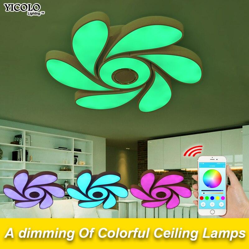 Smart App удаленного Потолочные светильники bluetooth музыку светодиодные лампы потолочные 72 Вт 108 Вт привело для детей номер светодиодный прожекто...