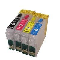 T1901-T1904 için doldurulabilir mürekkep kartuşu epson ME301 ME303 ME401printers