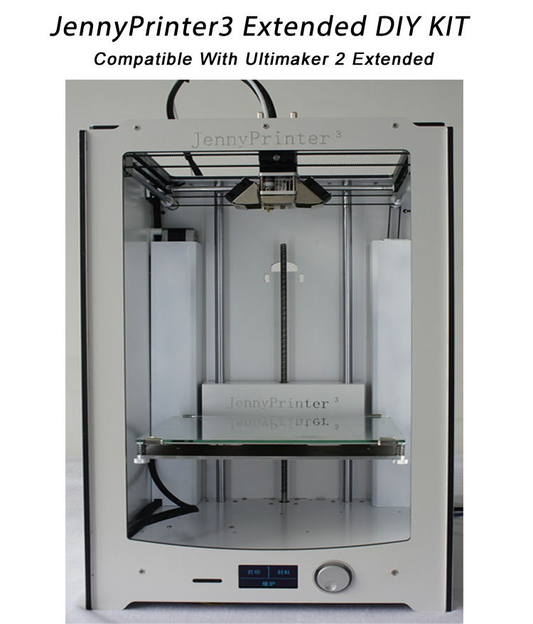 JennyPrinter3 Extended Auto Leveling 3D Printer DIY KIT Perfect Compatible with Ultimaker 2 UM2 Extended  Included all Parts 2016 newest jennyprinter v1 6 diy kit is compatible with ultimaker 2 um2 extended included all 3d printer parts