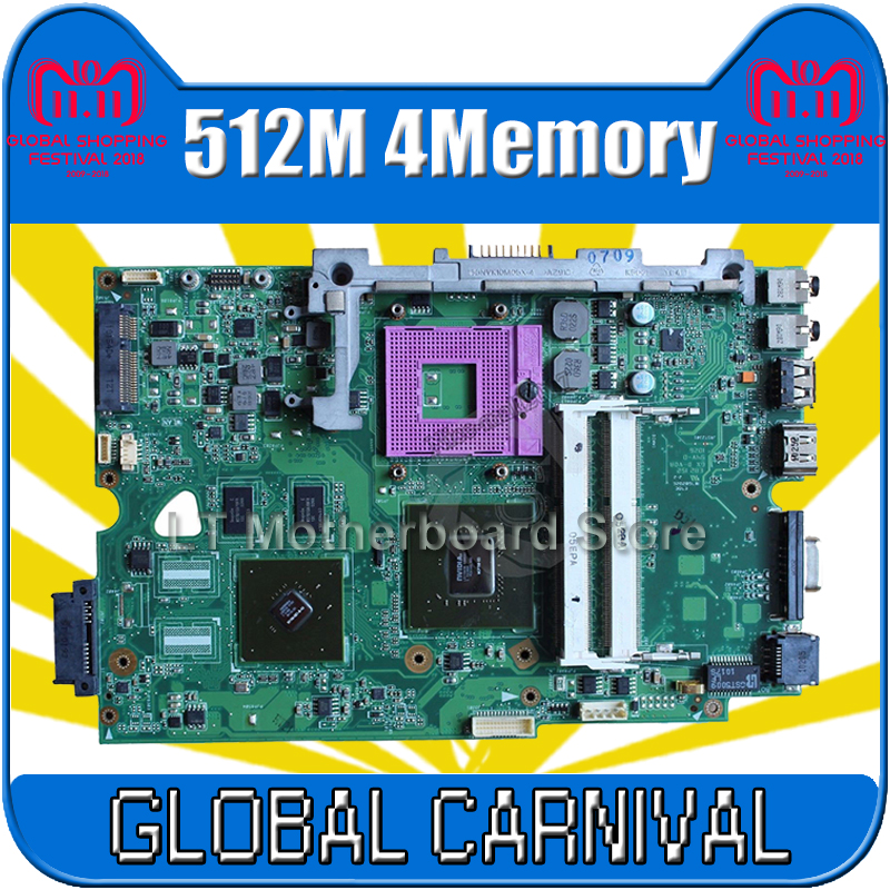 K50IE Motherboard 512M 4Memory For ASUS K50I K50IE K50ID K40ID Laptop motherboard K50IE Mainboard K50IE Motherboard test 100% OK k50id 1gb 8 memory motherboard for asus x5di k50ie k50i k50id laptop mainboard rev 3 2 ddr3 100