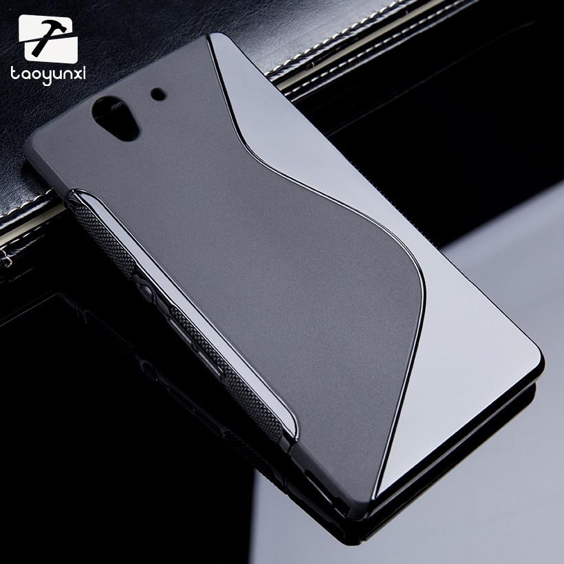 Sline tpu suave silicona teléfono case para sony xperia z L36h L36i C6603 C6602