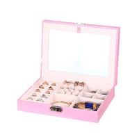 Mordoa Wholesale Jewelry Display Leather Pattern Casket Senior Jewelry Box Organizer Case For Jewelry Storage Gift