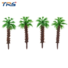 500pcs 4cm Model Miniature scale Palm Tree for Architecture Plastic Palm Tree Model Miniature scale Palm Tree for sea scenery недорого