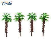 4cm Model Miniature Scale Palm Tree For Railroad Architecture Plastic Coconut For Sea Scenery Simulation scenario