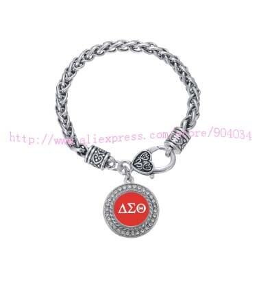 Kundenspezifische ornament Delta Sigma Theta Sorority Kristall Kreis Armband Schmuck Rush schwester Geschenk 1 stück kostenloser versand