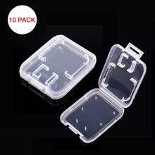 10 stücke Speicher Karte Fall Transparent Standard SD SDHC microsd Fall TF Protector Halter Weiß Box Carry Lagerung Großhandel SD fall