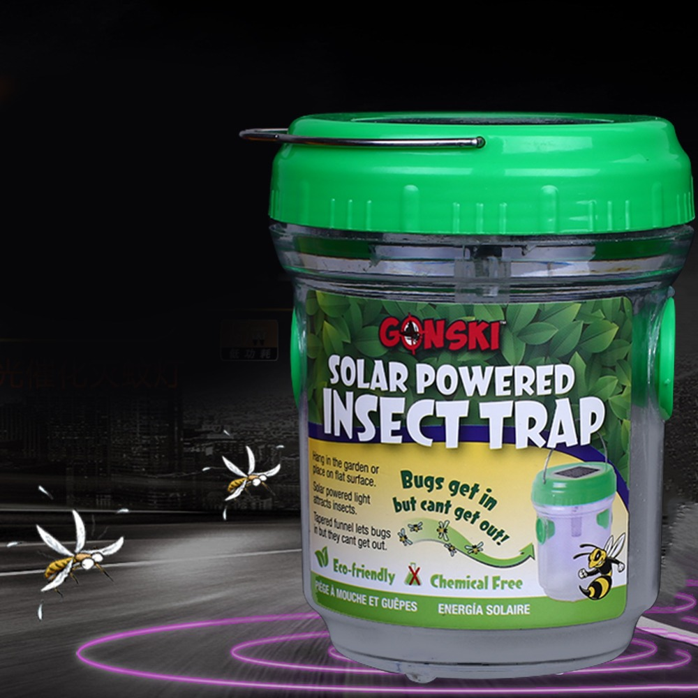 DC 3.2V Portable Solar Mosquito Trap Repellent Lights Mosquito Killer Harnless To People Jardin Garden Supplies Drop Shipping