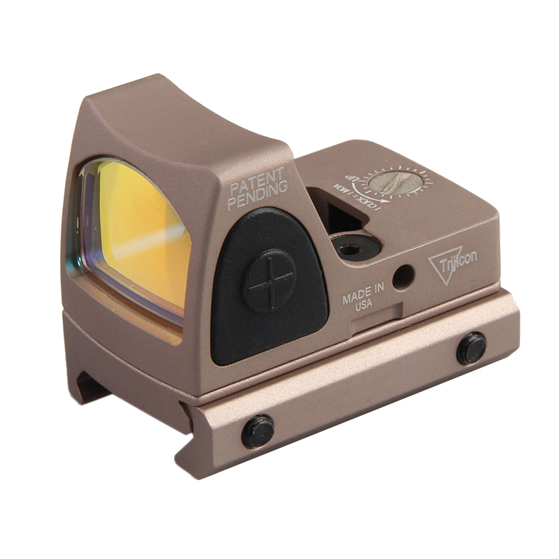 Hot Sale Tactical Trijicon RMR Style Adjustable Red Dot Sight With Switch With Glock Mount For Hunting BWD-043TanHot Sale Tactical Trijicon RMR Style Adjustable Red Dot Sight With Switch With Glock Mount For Hunting BWD-043Tan