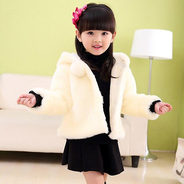 19405bf0a Otoño Invierno Moda Madre E Hija Ropa Niñas Bebés Faux Fur Coat Niños  prendas de Vestir
