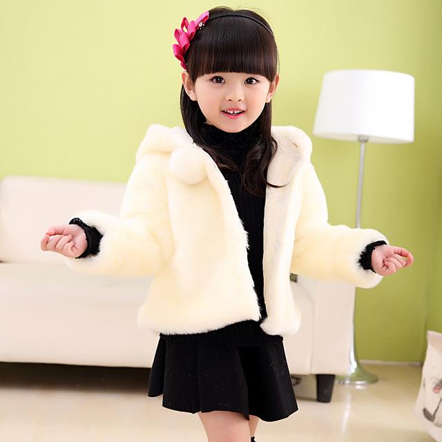 Otoño Invierno Moda Madre E Hija Ropa Niñas Bebés Faux Fur Coat Niños prendas de Vestir Exteriores Chaquetas Adolescentes Engrosamiento Caliente Tops