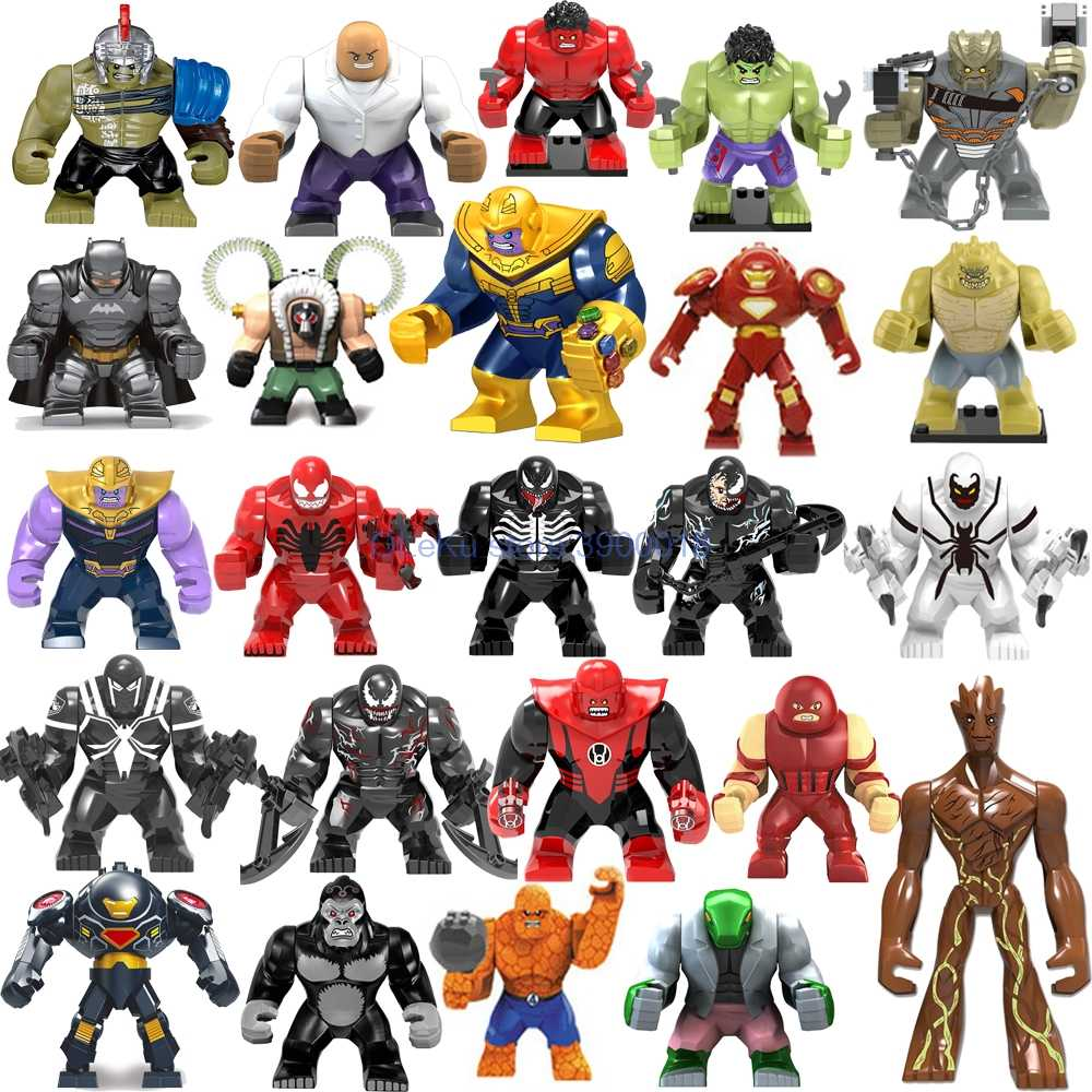 Big Figures Marvel Avengers Endgame Thanos Venom Carnage Energy Hulkbuster Gloves Batman Iron man Bricks Building Blocks Toys