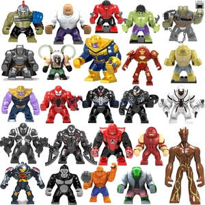 Big Figures Marvel Avengers Endgame Thanos Venom Carnage Energy Hulkbuster Gloves Batman Iron man Bricks Building Blocks Toys(China)
