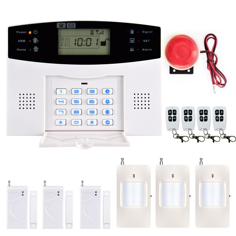 2017 New Arrival Wireless SMS Home GSM Alarm system Wireless Remote Control House intelligent DIY Burglar Security Alarm System daytech gsm sms alarm kits home security system professional siren wireless gsm remote control intelligent two way intercom