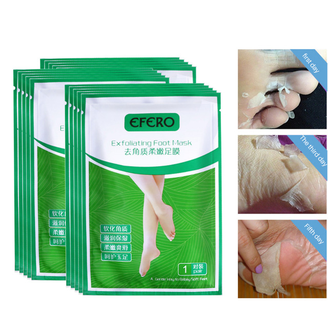 2pair=4pc Baby Foot Peeling Mask Remove Dead Skin Cuticle Heel Exfoliating Pedicure Socks Foot Care Foot Mask for Feet Peel Mask