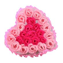 Cool! 24Pcs Heart Scented Bath Body Petal Rose Flower Soap Wedding Decoration Gift Flavor Paper Fancy Soap 2018 Anne