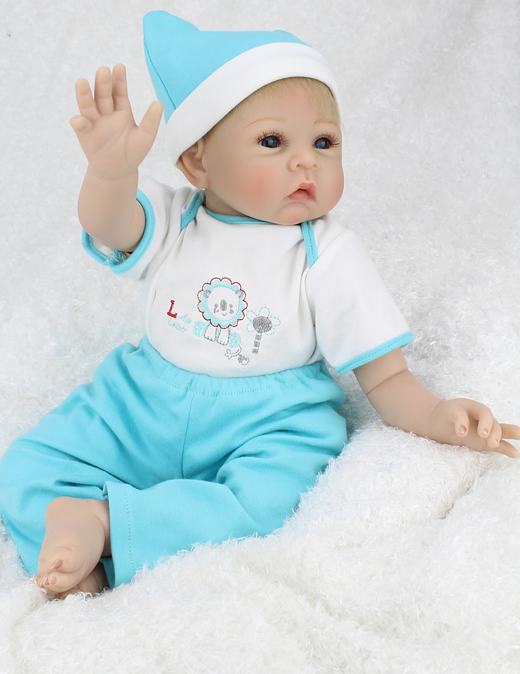 22inch new arrival kawaii 55CM vinyl doll reborn silicone baby cute handmade lifelike reborn babies dolls toy for kids new gifts kawaii baby dolls