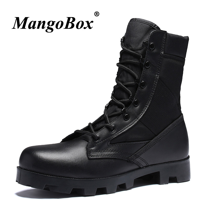 3e6f44b1553 Handmade Autumn Winter Long Boots For Men Brand Military Combat Boots Boy  Split Leather Non-Slip Martins Boots Casual Male Shoes