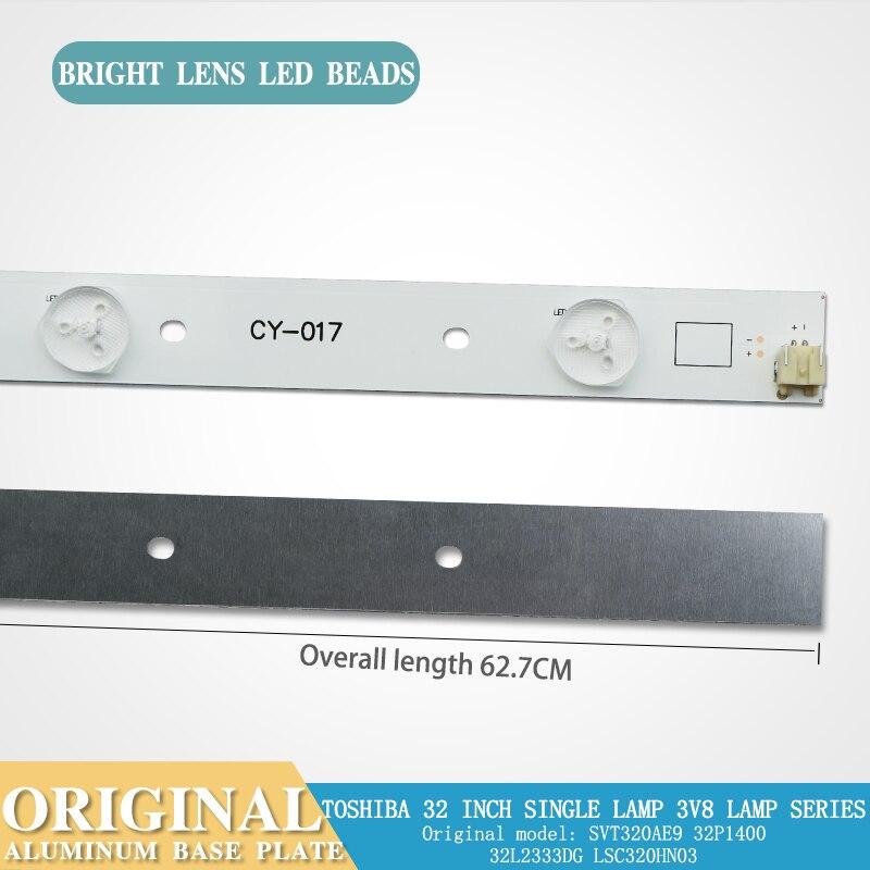 Original Light Bar For Toshiba 32-inch SVT320AE9 32P1400 32L2333DG L Aluminum Substrate  8 Lamps 6v Light Bar